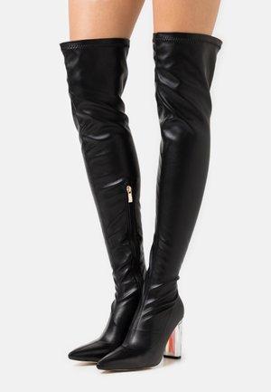 BRIANA - Kozačky na vysokém podpatku - black
