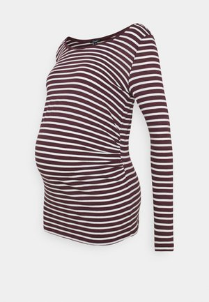 STRIPE - Long sleeved top - red