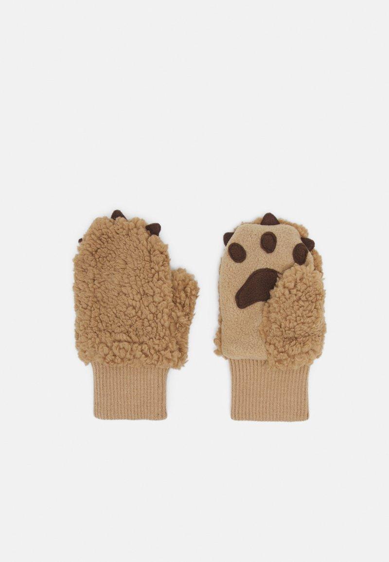 GAP - BEAR UNISEX - Mittens - bruno brown