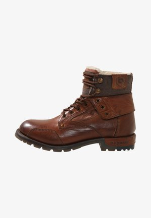 SENTRA - Lace-up ankle boots - cognac