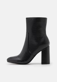 BAMBOO SHAFT BOOT - High heeled ankle boots - black