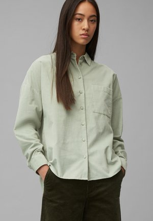 Button-down blouse - washed mint