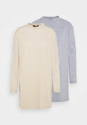 BASIC DRESS 2 PACK - Jerseyjurk - grey/stone