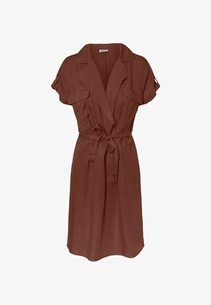 NMVERA ENDI SHIRT DRESS - Day dress - burnt henna