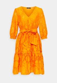 Selected Femme - SLFSADIE VNECK  - Day dress - dark cheddar - 0