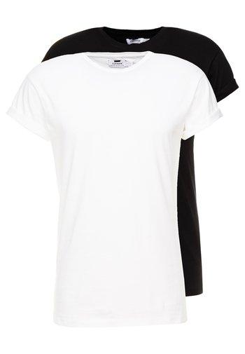 2 PACK - T-paita - black/white