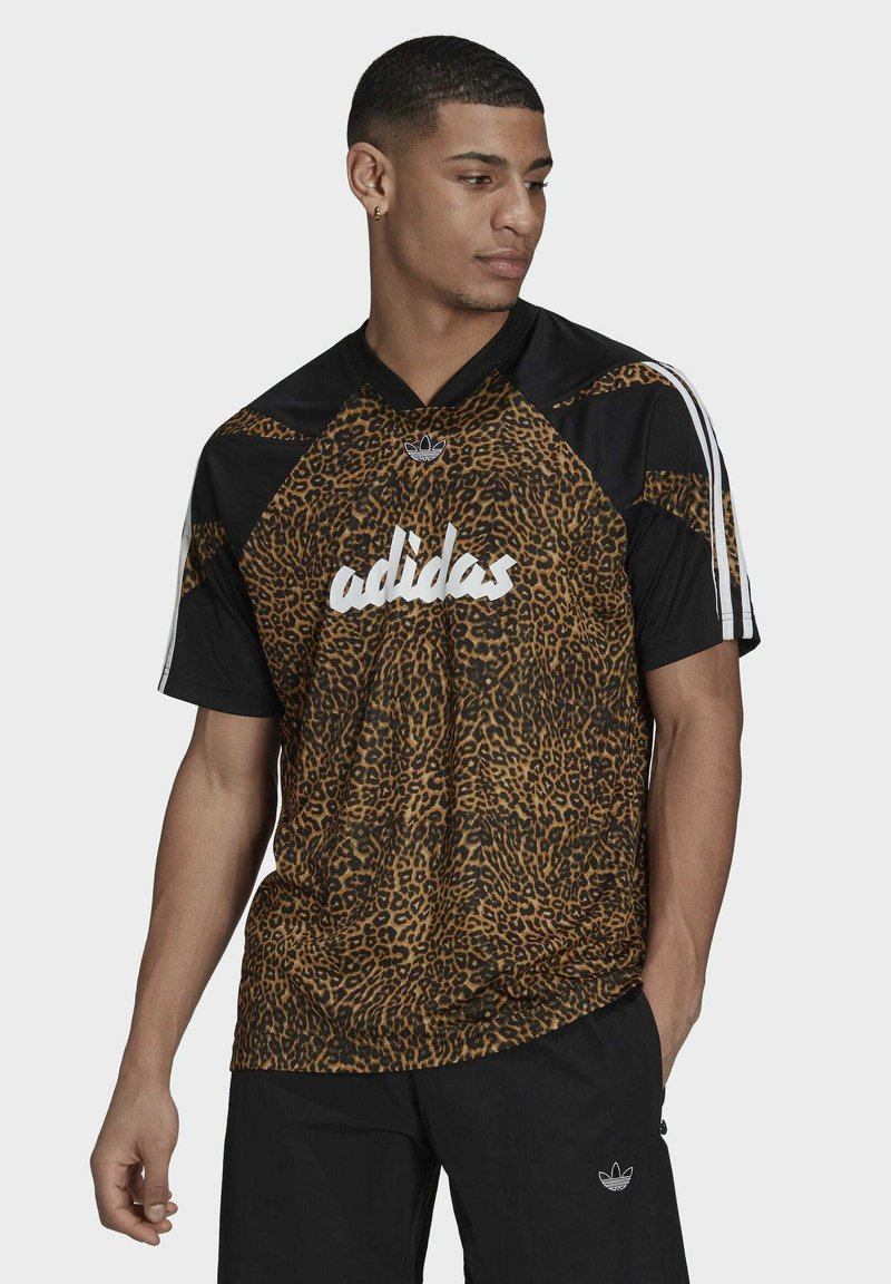 adidas Originals - FOOTBALL  - T-shirt con stampa - beige