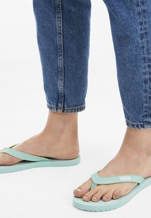 COSY  - T-bar sandals - misty green/white