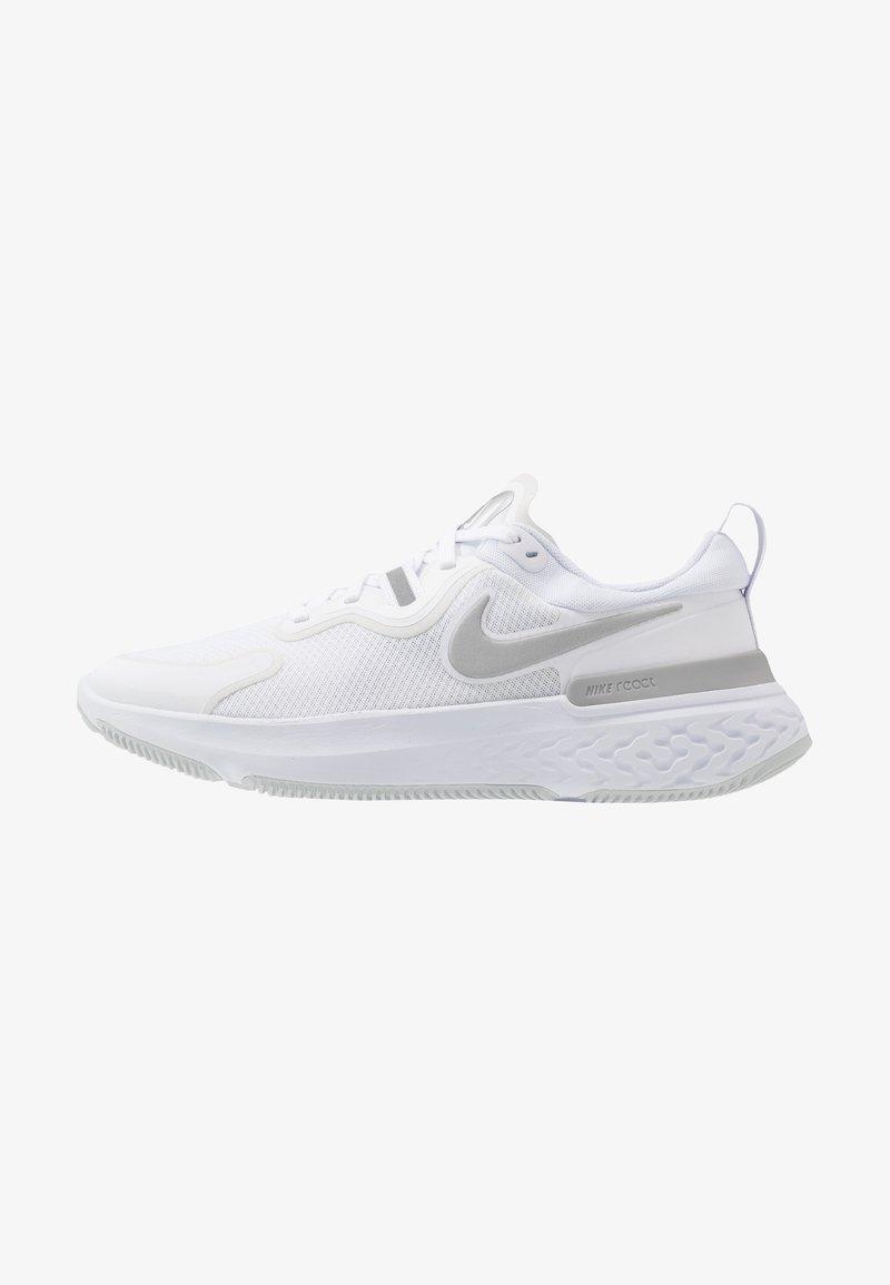 Nike Performance - REACT MILER - Zapatillas de running neutras - white/metallic silver/pure platinum