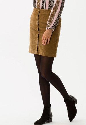 STYLE KIM - A-line skirt - cognac