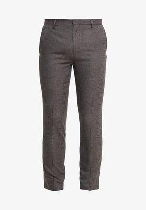 BURG HOUNDTOOTH - Spodnie garniturowe - burgundy