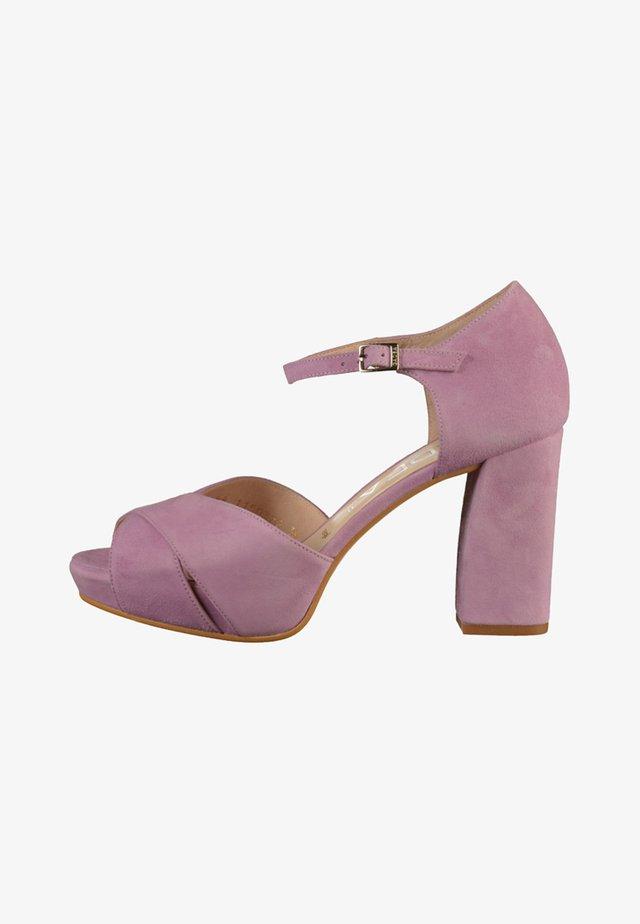 Sandales à talons hauts - ante lavanda