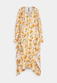 Mother of Pearl - V NECK DRESS WITH PIN TUCKS AND BUTTONS - Vapaa-ajan mekko - poppy peach - 6