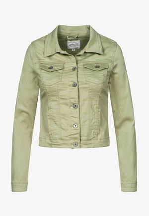 HYSENNY - Denim jacket - soft green
