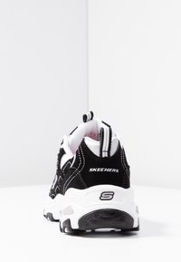 Skechers Sport - D'LITES - Baskets basses - black/white/silver - 5