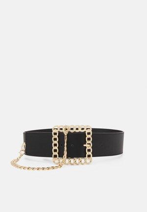 PCORINA WAIST BELT KEY - Waist belt - black/gold coloured