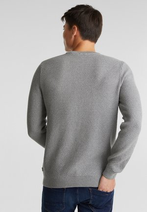 Stickad tröja - medium grey