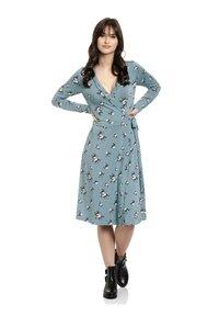 Vive Maria - Day dress - blau allover - 0