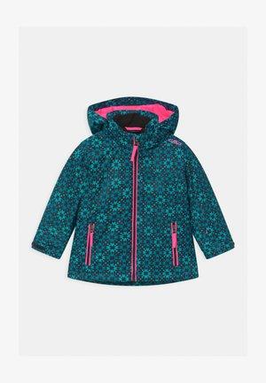 GIRL SNAPS HOOD - Ski jacket - danubio/antracite/turchese