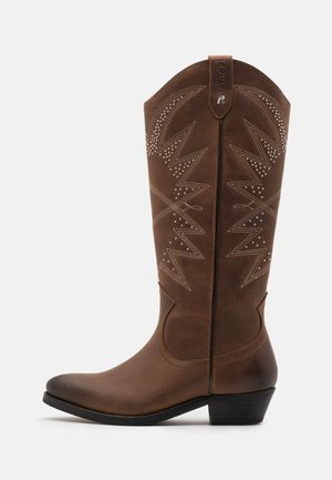 NEW MANDY SADIE - Cowboy/Biker boots - brown
