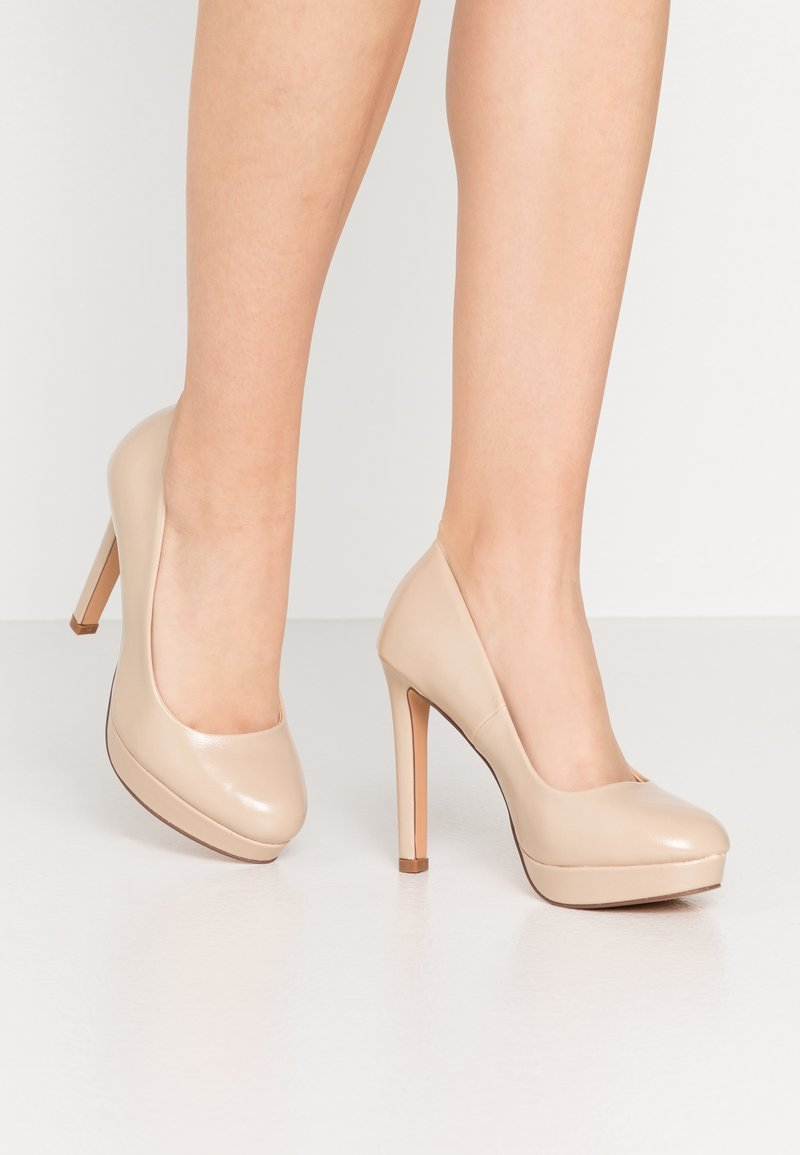 Even&Odd Wide Fit - High Heel Pumps - nude
