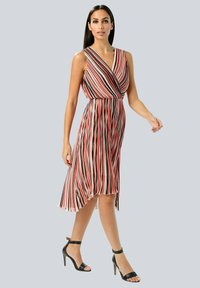 Alba Moda - Day dress - rot/koralle/weiß - 1
