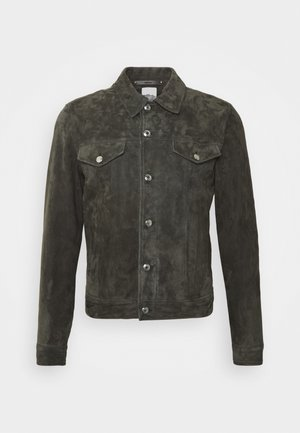 Veste en cuir - dark grey