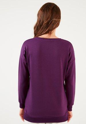 CREW NECK BASIC  - Sweatshirt - purple