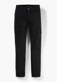 s.Oliver - SLIM FIT: SKINNY LEG-CARGOHOSE - Cargo trousers - black - 2