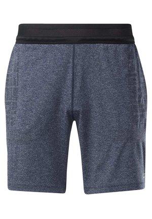 UNITED BY FITNESS 8-INCH MYOKNIT SEAMLESS SHORTS - Sports shorts - blue