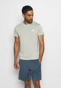 adidas Performance - AEROREADY TRAINING SPORTS SHORT SLEEVE TEE - Print T-shirt - grey - 0