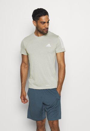 AEROREADY TRAINING SPORTS SHORT SLEEVE TEE - T-shirt z nadrukiem - grey