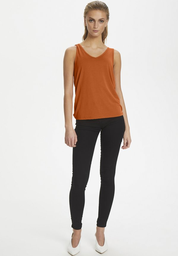 Soaked in Luxury SL COLUMBINE TANK TOP - Top - burnt orange Odzież Damska XJMB XB 4