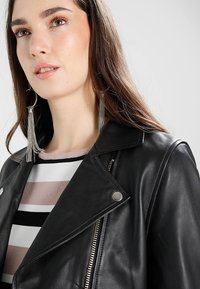 Samsøe Samsøe - Leather jacket - black - 4
