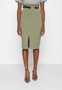 4th & Reckless - LORENA SKIRT - Pencil skirt - khaki - 0