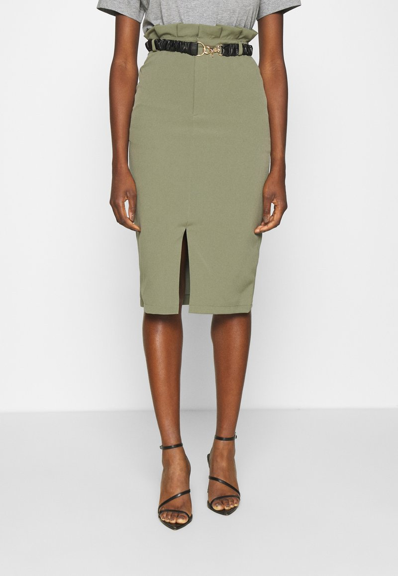 4th & Reckless - LORENA SKIRT - Pencil skirt - khaki