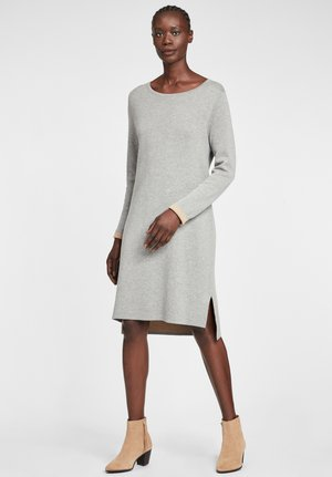 Jumper dress - grau/camel