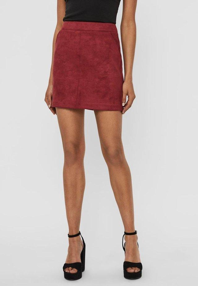 A-line skirt - tibetan red