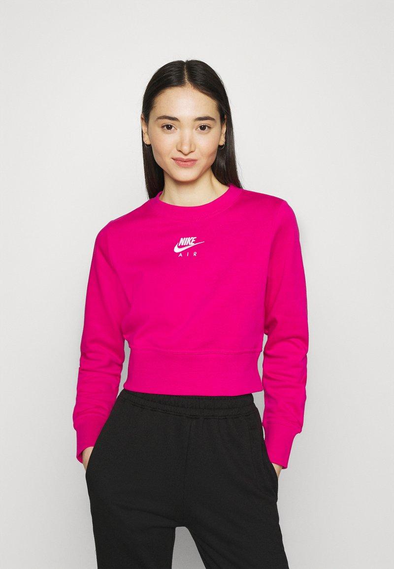 Nike Sportswear - AIR CREW  - Sweatshirt - fireberry/white