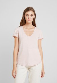 Abercrombie & Fitch - SOFT TEE - Basic T-shirt - pink - 0