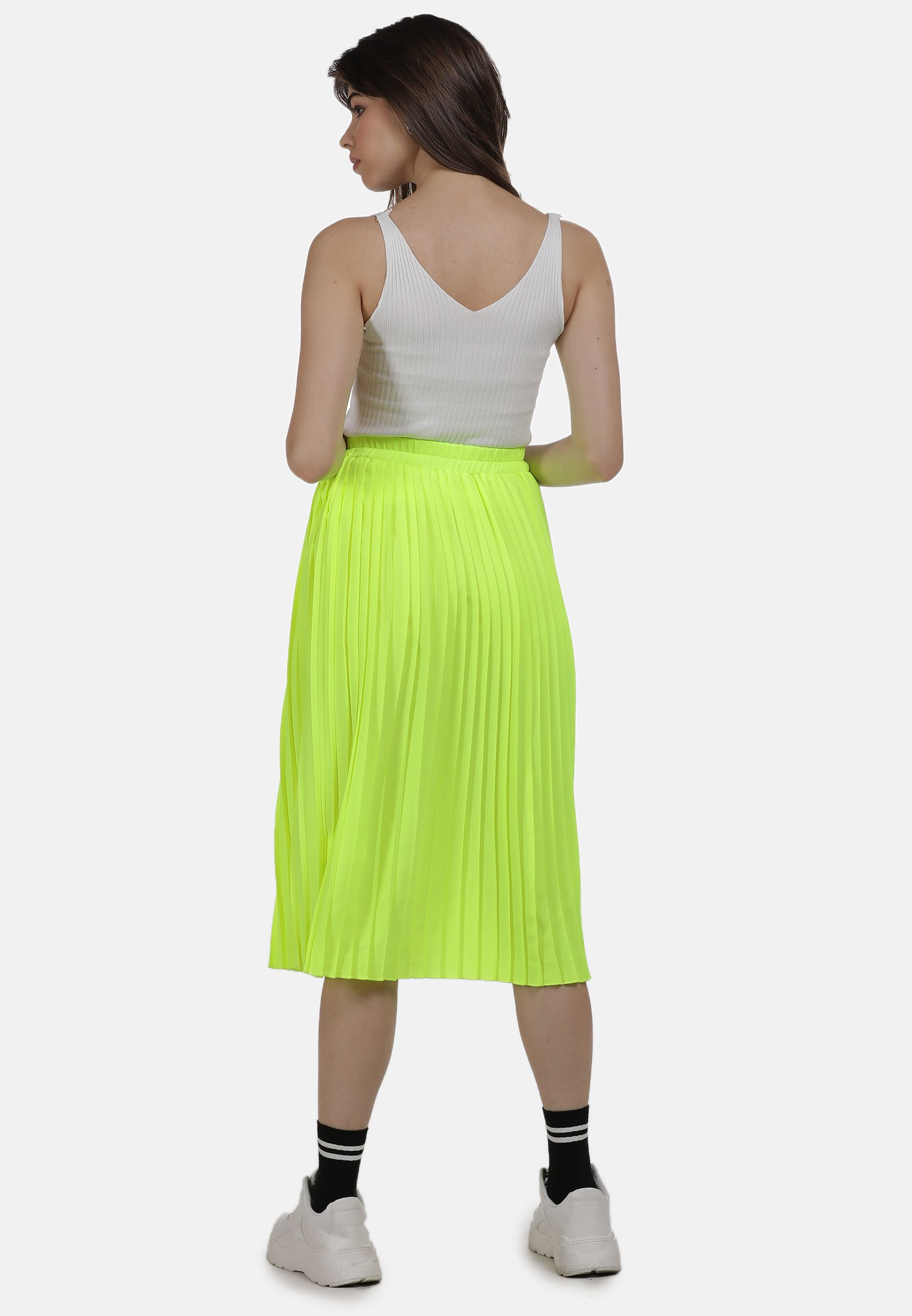 Shop For Women's Clothing myMo ROCK A-line skirt neon gelb 5wj8bEOXL