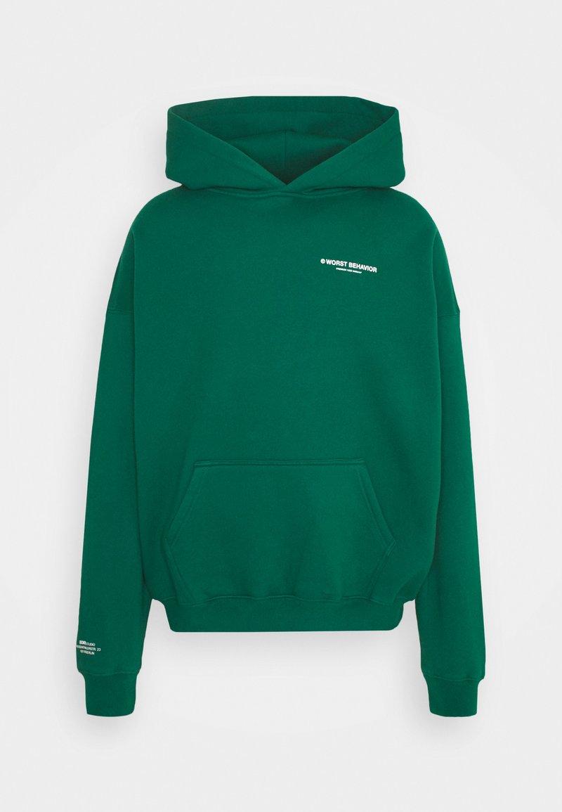 WRSTBHVR - WARREN HOODIE UNISEX - Sweatshirt - green