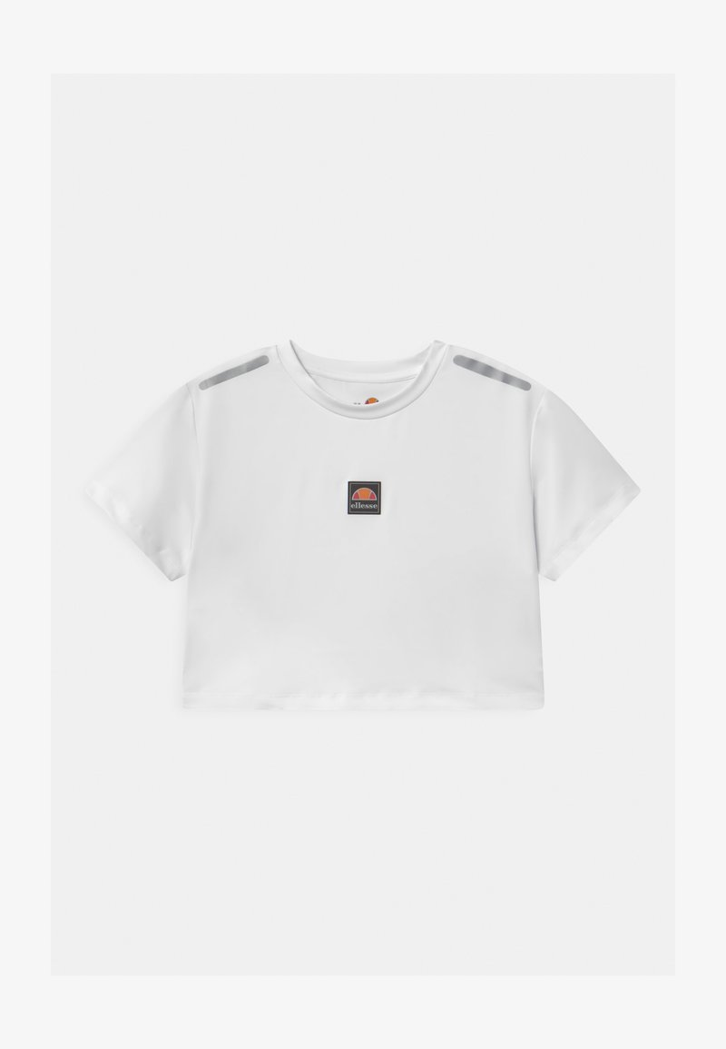 Ellesse - ASALI CROPPED UNISEX - Print T-shirt - white