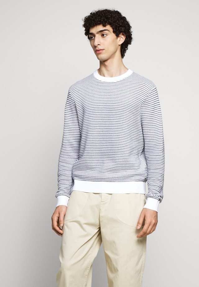 SUMMER CREW - Jumper - navy/white