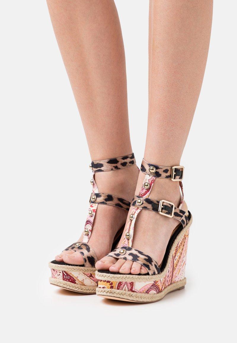 River Island - Platform sandals - pink/medium