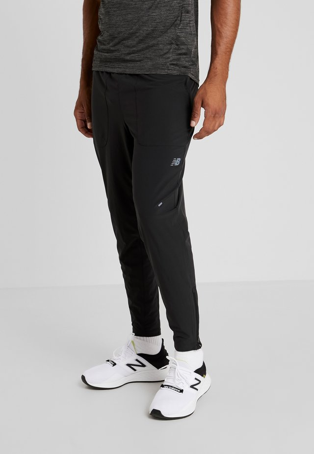 SPEED RUN CREW TRACK PANT - Tracksuit bottoms - black
