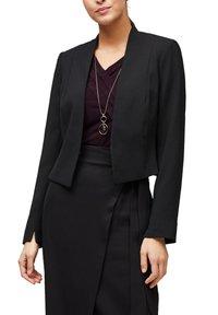 s.Oliver BLACK LABEL - MIT CACHE-COEUR-AUSSCHNITT - Long sleeved top - dark plum - 3