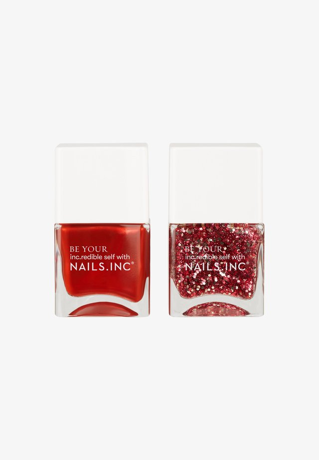 JOYFUL - Nail set - red/glitter