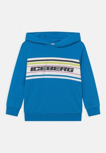 FELPA CHIUSA CON CAPPUCCIO - Sweatshirt - turchese
