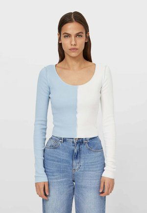 MIT ZIERNÄHTEN - Long sleeved top - white
